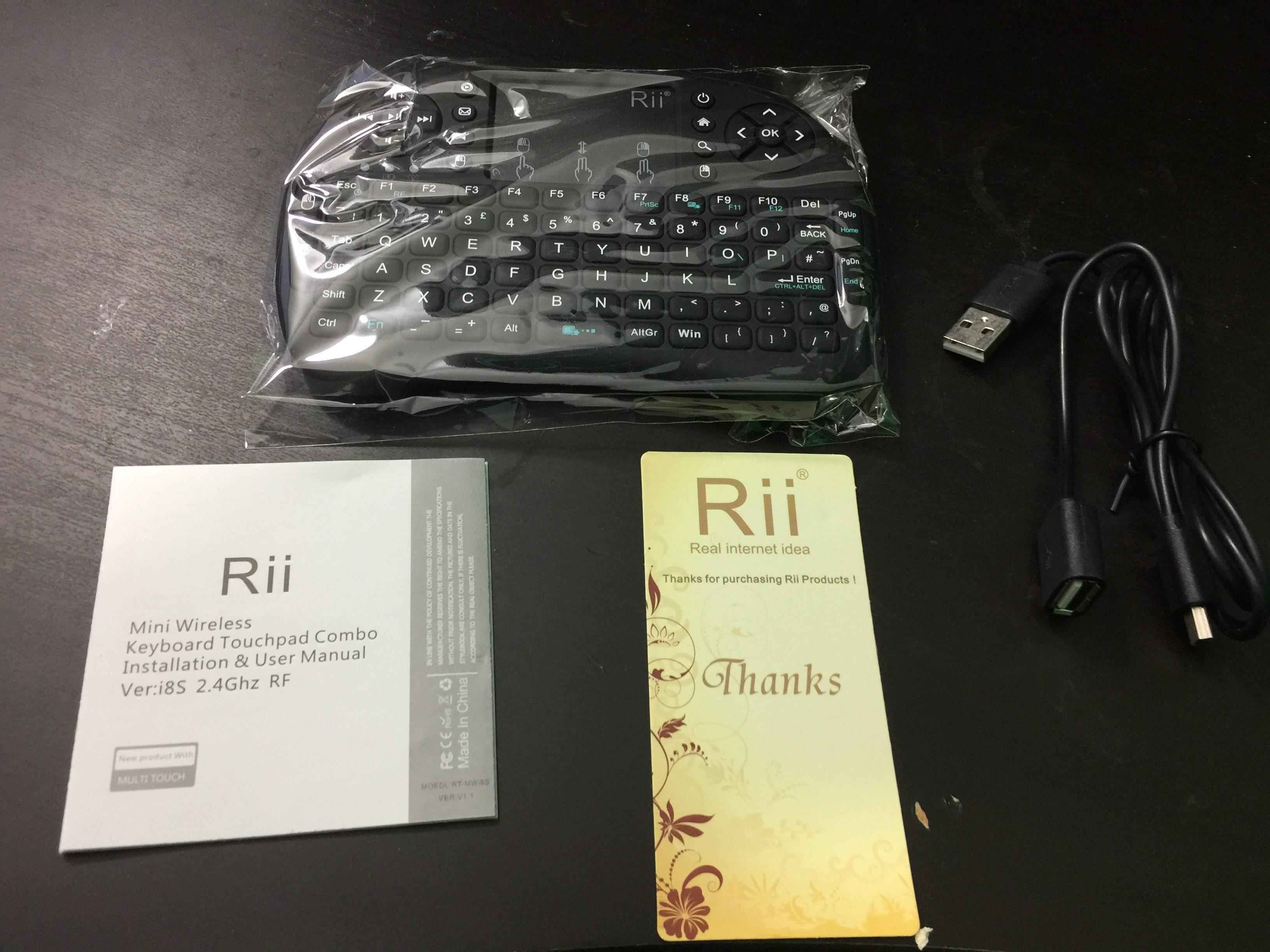 RII MINI I8+ I8s USB WIRELESS KEYBOARD REVIEW VIDEO FOR WINDOWS