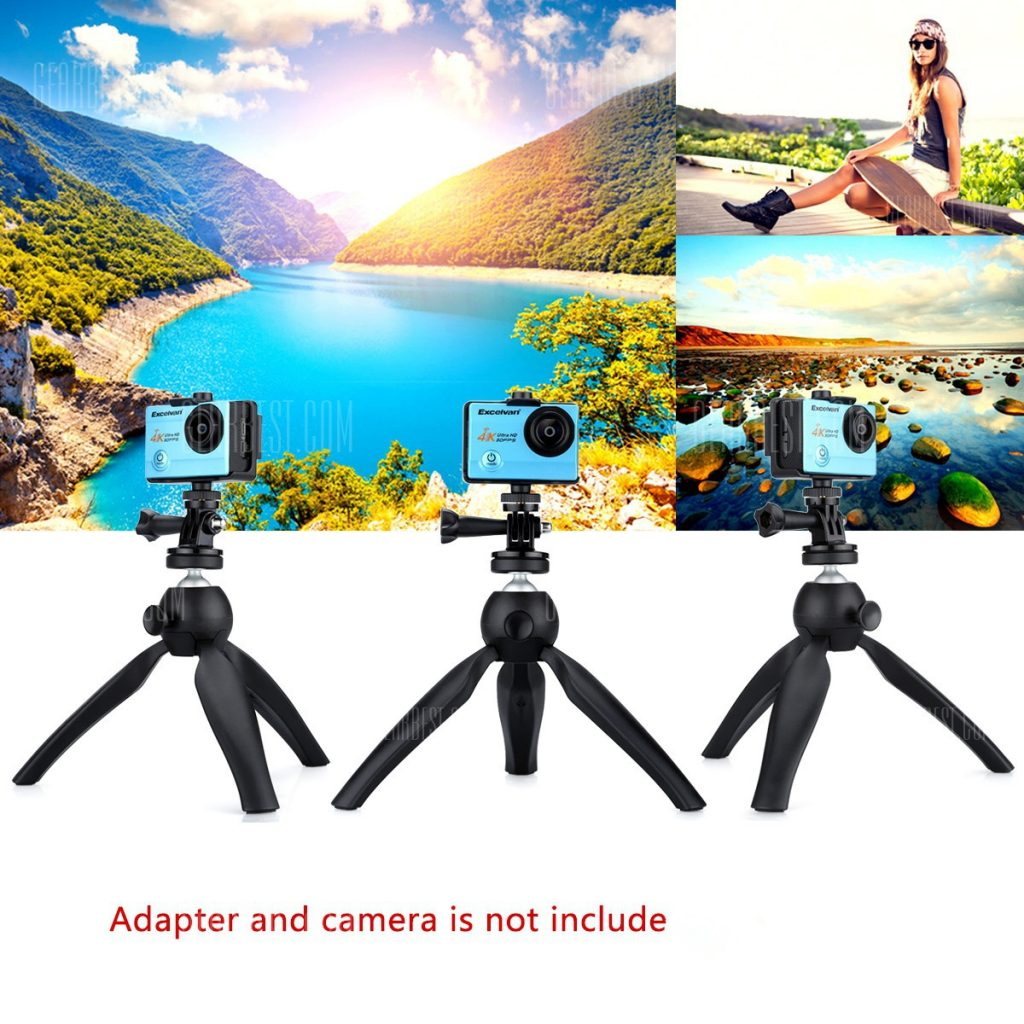 K3 Cell Phone Tripod Mini Adjustable Ball Head Tripod Stand Table Top for Gopro Hero 4 3+ 3 Iphone Canon Nikon Sony DSLR DVD DV Camcorder 184935901