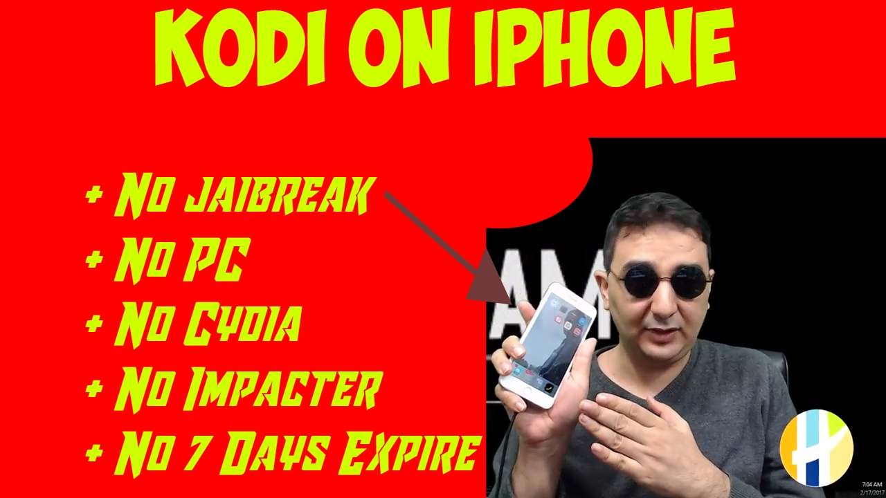 KODI iPhone IOS No jailbreak, No PC, No expire after 7 days