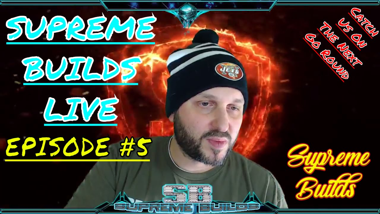 Supreme Builds Live #5 – Sunday Chat: Can't Wait for GOT , Kodi Talk , Hats As Usual & Some NFL Chat