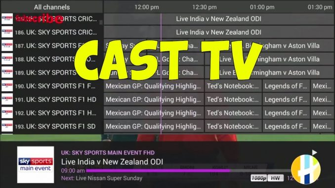 IPTV CASTTV Live TV with free trial - works with KODI