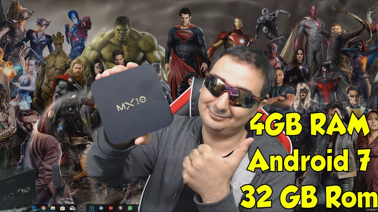 New 4GB Android TV 7 1 2 KODI BOX MX10 Review and Unboxing