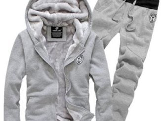 Hooded Badge Embroidery Long Sleeve Men's Sherpa Hoodie Suit(Hoodie+Pants)