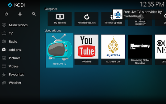 Screen Shot 2018 03 06 at 12.55.00 PM - Free Live TV for Kodi: Live TV Channels Directly from Verified Sources