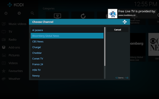 Screen Shot 2018 03 06 at 12.55.06 PM - Free Live TV for Kodi: Live TV Channels Directly from Verified Sources