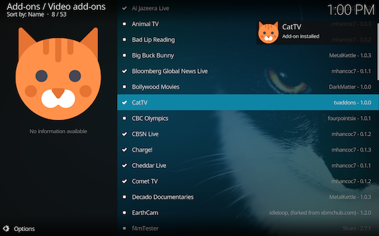 Screen Shot 2018 03 06 at 1.00.44 PM - Cat TV for Kodi: Endless Fun for Cats and Kittens of All Ages