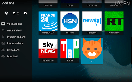 Screen Shot 2018 03 06 at 1.00.55 PM - Cat TV for Kodi: Endless Fun for Cats and Kittens of All Ages