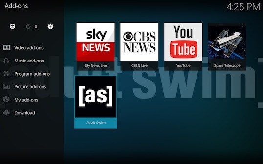 Screen Shot 2018 02 23 at 4.25.56 PM - Adult Swim for Kodi: Download and Install Adult Swim with Git Browser