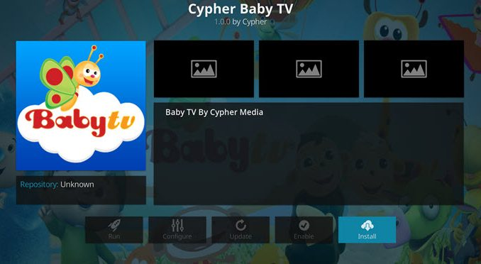 Baby TV Addon Guide