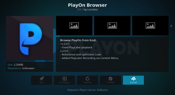PlayOn Browser Addon Guide