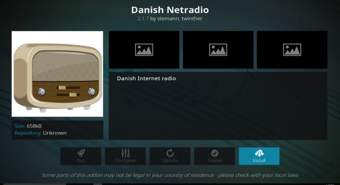 Danish Netradio Addon Guide