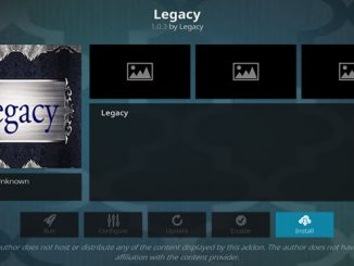 Legacy Addon Guide