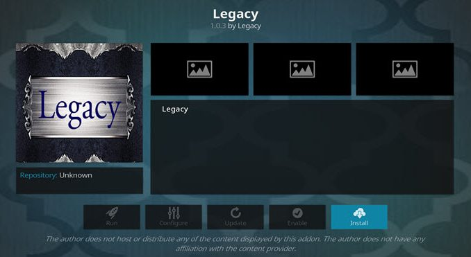 Legacy Addon Guide