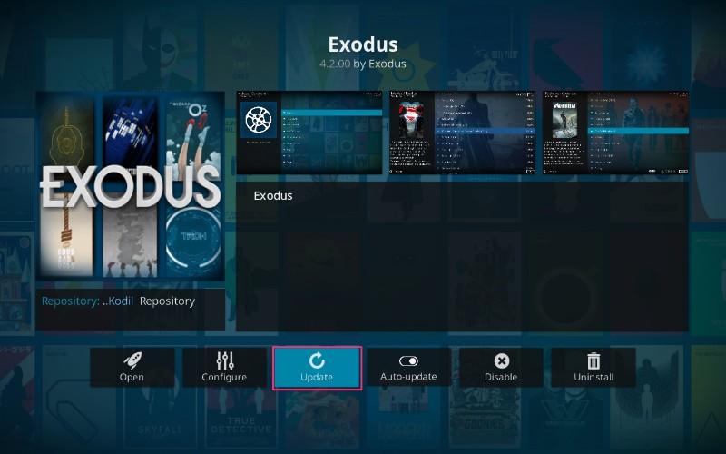 update exodus on kodi