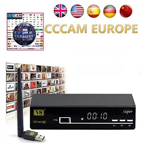 HD Satellite TV Receiver Full powervu, cccam, bisskey V8 Super DVB