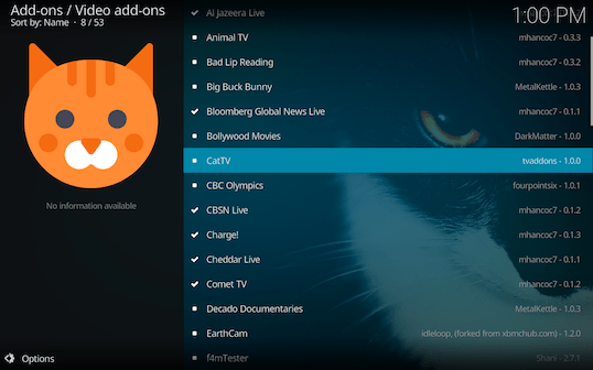 Screen Shot 2018 03 06 at 1.00.37 PM - Cat TV for Kodi: Endless Fun for Cats and Kittens of All Ages