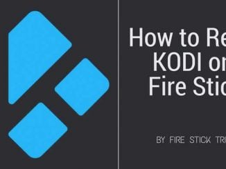 how to reset kodi on firestick