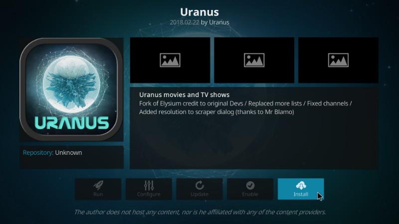 install uranus kodi addon