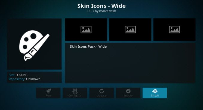 Skin Icons - Wide Addon Guide