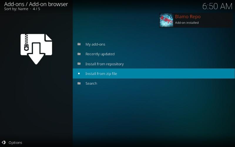 blamo repository installed