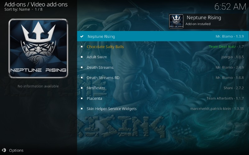 how to install neptune rising kodi