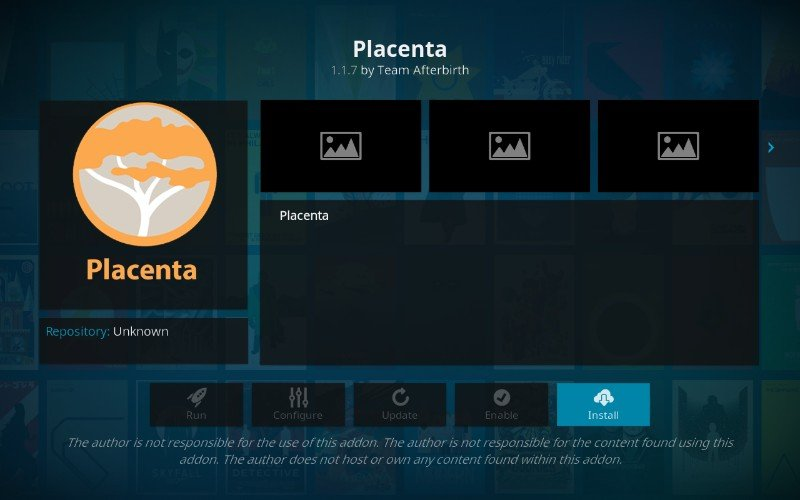 how to install placenta on kodi