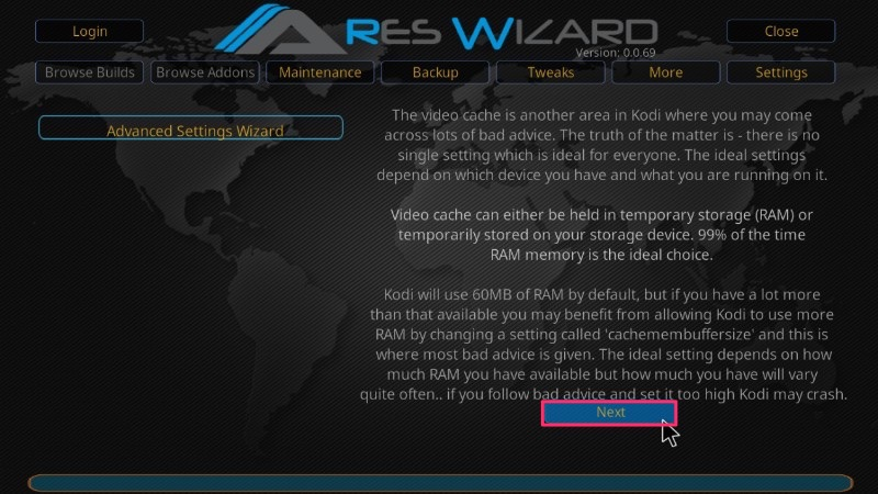 kodi buffering issues ares wizard