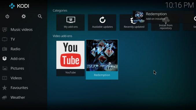 How to Install Redemption Kodi Addon on Kodi 17.6