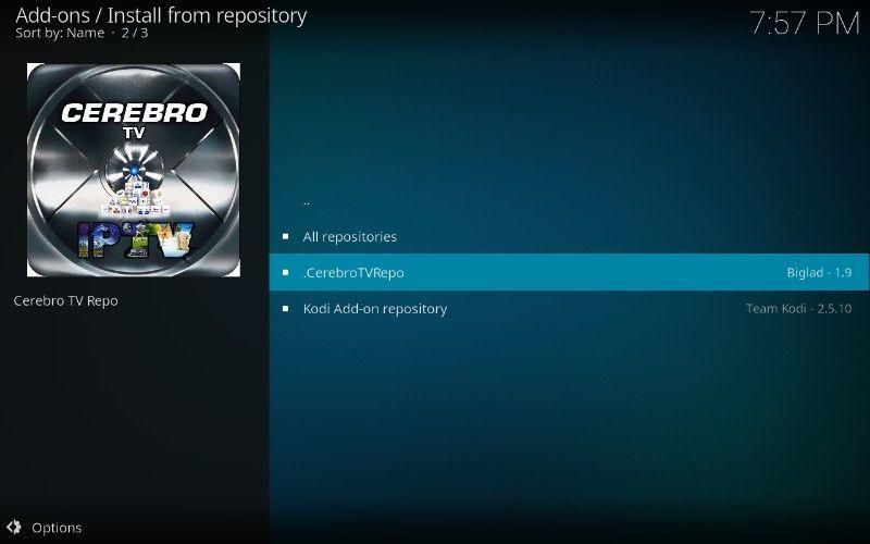 cerebro tv repository