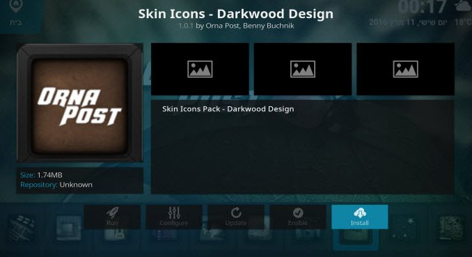Skin Icons - Darkwood Design Addon Guide