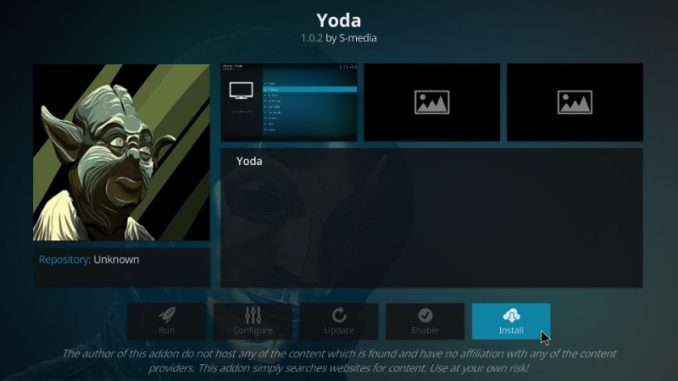 How to Install Yoda Kodi Addon on Kodi 17.6 Krypton