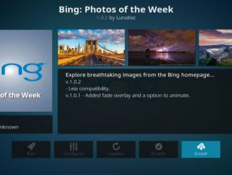 Bing: Photos of the Week Addon Giude