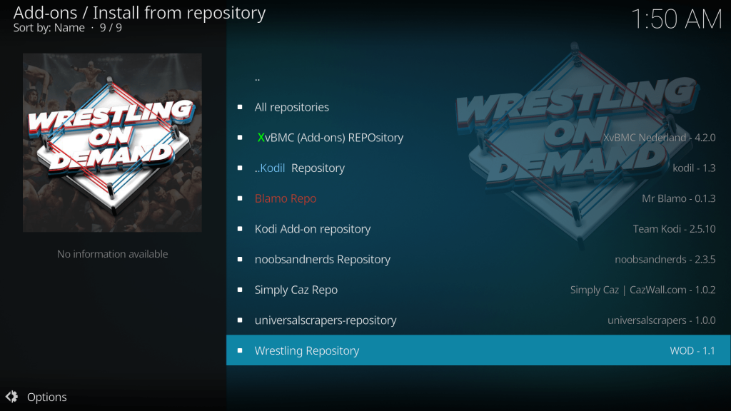 how to install wwe on demand on kodi