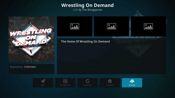 How to Install Wrestling On Demand on Kodi 17.6 Krypton