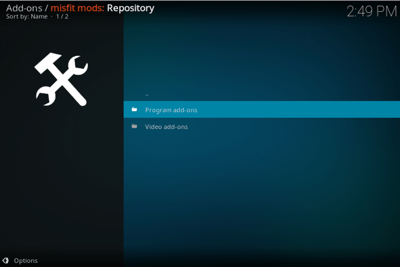 program addons kodi