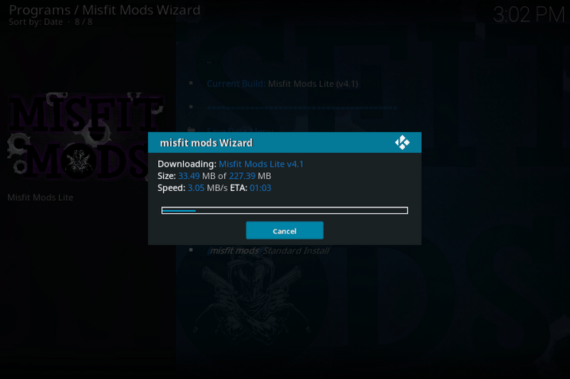 misfit mods lite kodi build download