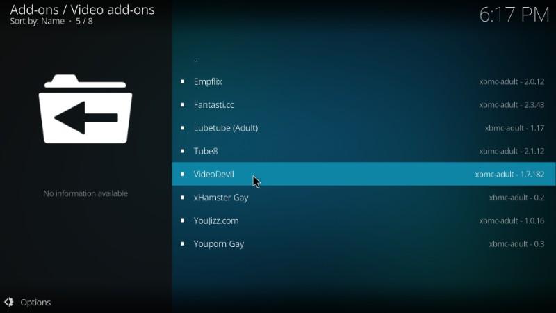 install videodevil kodi porn addon