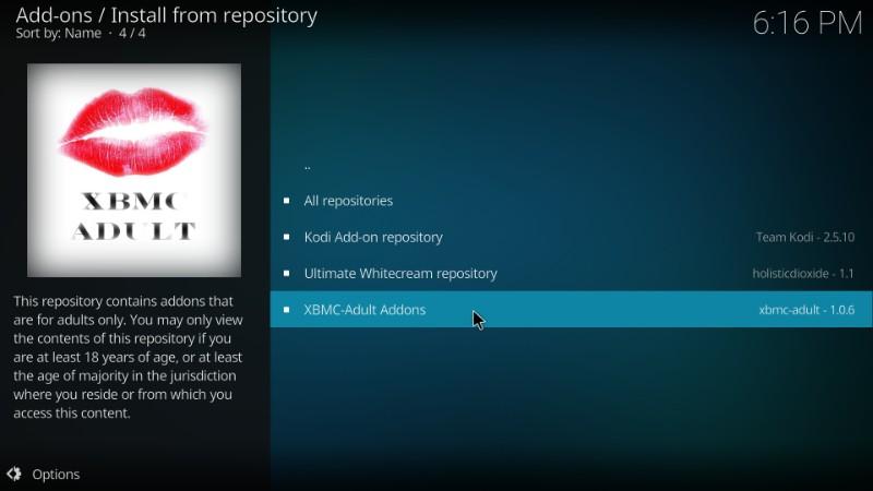 xbmc adult repository