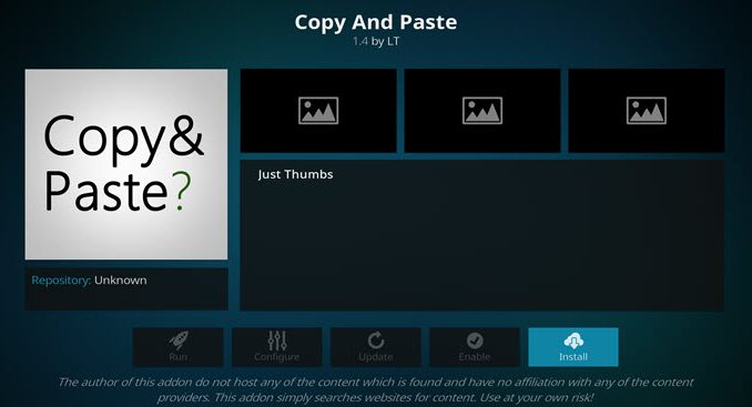 Copy and Paste Addon Guide