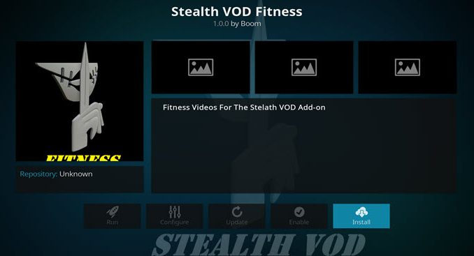 Stealth VOD Fitness Addon Guide