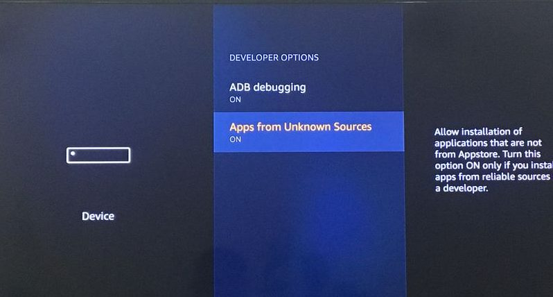 allow apps from unknown sources firestick