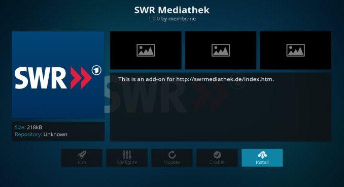 SWR Mediathek Addon Guide - Kodi Reviews
