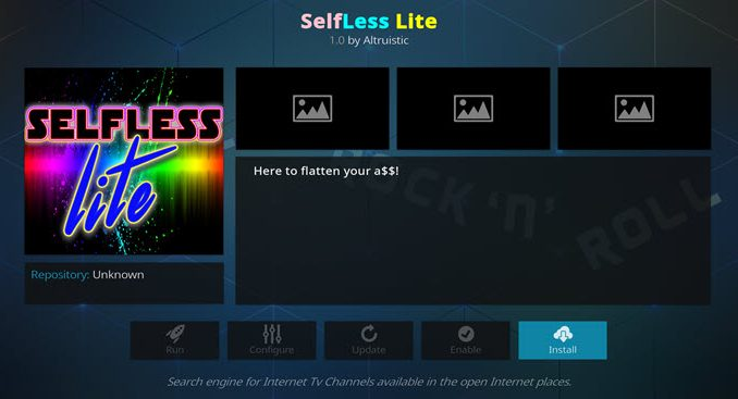 Selfless Lite Addon Guide - Kodi Reviews