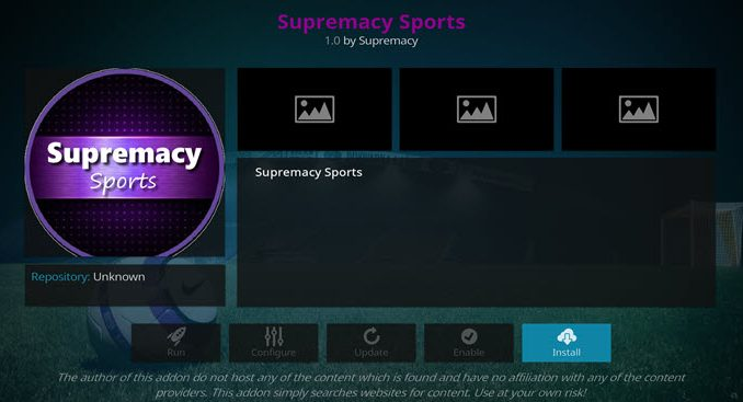 Supremacy Sports Addon Guide - Kodi Reviews