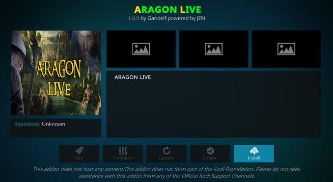 Aragon Live Addon Guide - Kodi Reviews