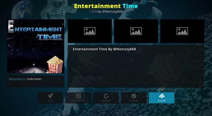 Entertainment Time Addon Guide - Kodi Reviews