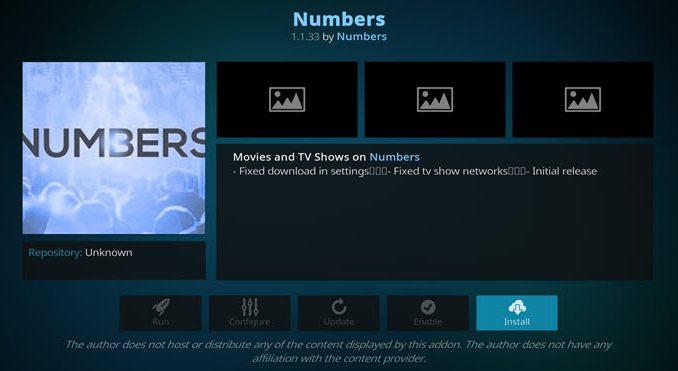 Numbers Addon Guide - Kodi Reviews