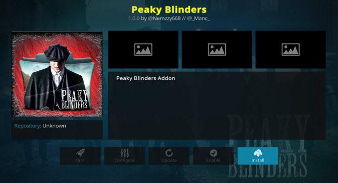 Peaky Blinders Addon Guide - Kodi Reviews