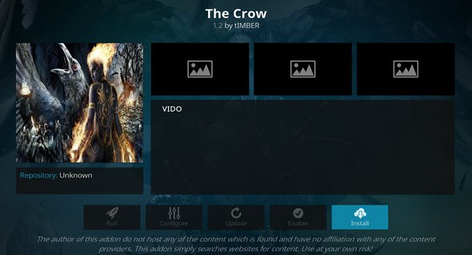 The Crow Addon Guide - Kodi Reviews