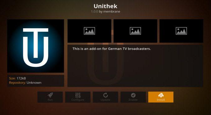 Unithek Addon Guide - Kodi Reviews
